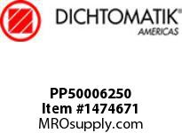 Dichtomatik PP50006250 SYMMETRICAL SEAL POLYURETHANE 92 DURO WITH NBR 70 O-RING STANDARD LOADED U-CUP INCH