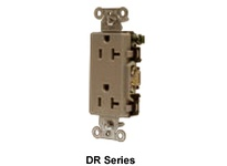 HBL-WDK DR20GRY DECO RCPT COMM GRD 20A 125V 5-20R GY