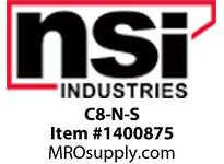 NSI C8-N-S #8 CLOSED END CONNECTOR SMALL PACK-NYLON