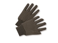 West Chester 750 Knit Wrist Brown Jersey Glove - Poly/Cotton - Mens