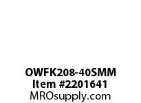 PTI OWFK208-40SMM 2-BOLT FLANGE BEARING-40MM OWFK SILVER SERIES - NORMAL DUTY -