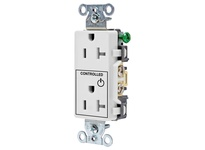 HBL_WDK DR20C1WHI 1/2 CONTROLLED 20A 125V B/S DECO WH