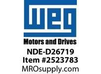 WEG NDE-D26719 NDE END SHD FOR D26719 Motores