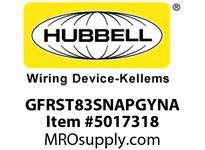 HBL_WDK GFRST83SNAPGYNA 20A COM ST HG SNAP GFR USA GRAY