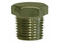 MRO 62631 1/4 304 SS HEX HEAD PLUG (Package of 4)