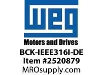 WEG BCK-IEEE316I-DE BEARING CAP KIT FOR IEEE Motores