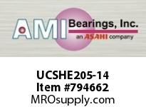 AMI UCSHE205-14 7/8 WIDE SET SCREW TAPPED BASE PILL BALL BEARING