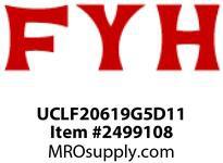 FYH UCLF20619G5D11 1 3/16in LD SS 2B FL *POLYMER LUBE*