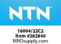 NTN 16004/22C2 SMALL SIZE BALL BRG(STANDARD)