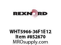 REXNORD WHT5966-36F1E12 WHT5966-36 F1 T12P WHT5966 36 INCH WIDE MATTOP CHAIN W
