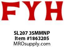 FYH SL207 35MMNP PILLOW BLOCK-NORMAL DUTY SETSCREW LOCKING-NICKEL PLATED