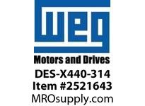 WEG DES-X440-314 DRIVE END SHIELD - EPL 440 314 Motores
