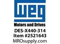 WEG DES-X440-314 DRIVE END SHIELD - EPL 440 314 Motores