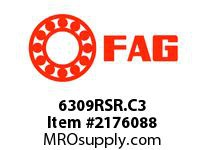FAG 6309RSR.C3 RADIAL DEEP GROOVE BALL BEARINGS