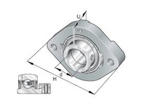 INA GLCTE35 Two-bolt oval flanged unit