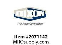 "DIXON D8325-50RAF 2-1/2"" RL ALUM NST ON 3"" X 50 WHITE 800# DJ HOSE - SPECIAL ORDER"