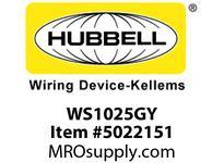 HBL_WDK WS1025GY VAC SNSR PIR 120V 2 CIRC NTRL GY