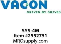 Vacon SYS-4M Fiber optic cable (pair) 4 m Option