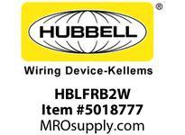 HBL_WDK HBLFRB2W SINGLEPOLE 400A FEM BUS 2 HOLE WH