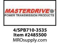 MasterDrive 4/SPB710-3535 4 GROOVE SPB SHEAVE