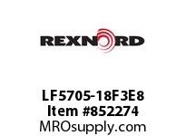 REXNORD LF5705-18F3E8 LF5705-18 F3 T8P Chain Pitch: 1.500 in; Capacity Typ