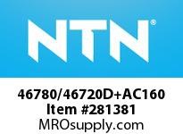 NTN 46780/46720D+AC160 LARGE SIZE TAPERED ROLLER BRG