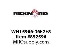 REXNORD WHT5966-36F2E8 WHT5966-36 F2 T8P WHT5966 36 INCH WIDE MATTOP CHAIN W