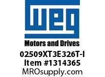 WEG 02509XT3E326T-I 25HP 900 60 208-230/460 XP - Nema Pr