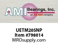 AMI UETM205NP 25MM WIDE ACCU-LOC NICKEL 3-BOLT FL BALL BEARING