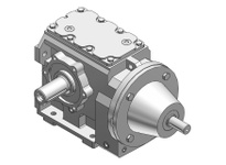 HUBCITY 0250-42452 HW2052ES 63.57 56C 1.375 HELICAL-WORM DRIVE