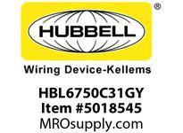 HBL_WDK HBL6750C31GY RACEWAY 31^ COVER HBL6750 SER GY