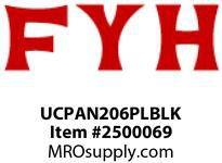 FYH UCPAN206PLBLK 30MM TB PB W/ BLK PLASTIC HOUSING