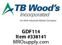 TBWOODS GDF114 DFX1 1/4 GEAR HUB