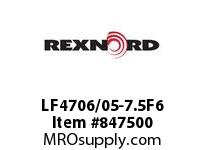 REXNORD LF4706/05-7.5F6 LF4706/05-7.5 F1 T6P N1SP CONTACT PLANT FOR ACCURATE DESCRIPT