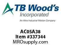TBWOODS AC05A38 AC05-AX3/8 FF COUP HUB