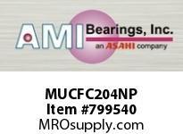 AMI MUCFC204NP 20MM STAINLESS SET SCREW NICKEL PIL SINGLE ROW BALL BEARING