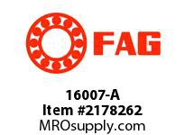 FAG 16007-A RADIAL DEEP GROOVE BALL BEARINGS