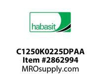 "Habasit C1250K0225DPAA 2-1/2"" Straight Knuckle Light Gray Acetal"