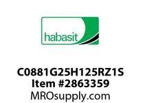 "Habasit C0881G25H125RZ1S 881-25T X 1-1/4"" Split Sprocket with Keyway and Setscrew"