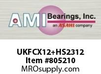 AMI UKFCX12+HS2312 2-1/8 MEDIUM WIDE ADAPTER PILOTED F CARTRIDGE SINGLE ROW BALL BEARING