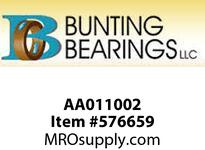 BUNTING AA011002 1/8 X 3/16 X 1/4 SAE841 Std Plain Bearing
