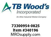 TBWOODS 73300954-0825 73300954-0825 DA37 M-FF CPLG