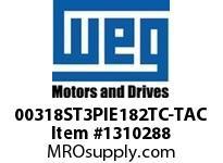 WEG 00318ST3PIE182TC-TAC 3HP 1800 3 60 200 IEEE-841
