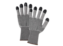 West Chester 730TBNDT/S PosiGrip: Liner w/Nitrile dots 2 sided and coated finger tips. EN Cut Level 5; ANSI Cut 3 1254 gms