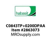 "Habasit C0843TP+0200DPAA 843 2"" Acetal Top Plate"