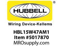 HBL_WDK HBL15W47AM1 WT CONN 5-15R 15A/125V IN BOX