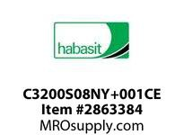 Habasit C3200S08NY+001CE 1200/3200 8T Molded White Nylon Ext Hub - Std Stock Bore