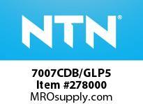 NTN 7007CDB/GLP5 PRECISION BALL BRG