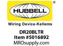 HBL_WDK DR20BLTR T-RES DECO COM GRD 20A 125V 5-20RBL