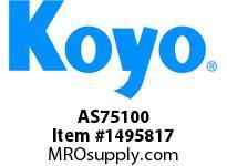 Koyo Bearing AS75100 NEEDLE ROLLER BEARING THRUST WASHER